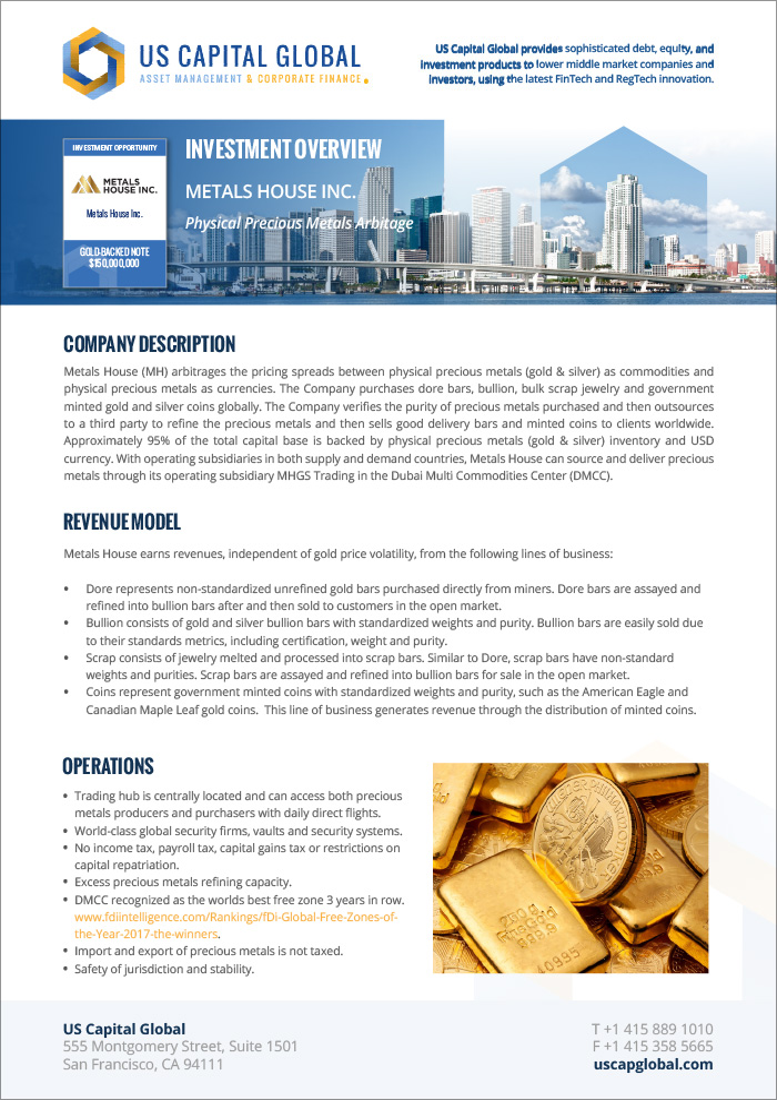 Metals House Note Exec Summary