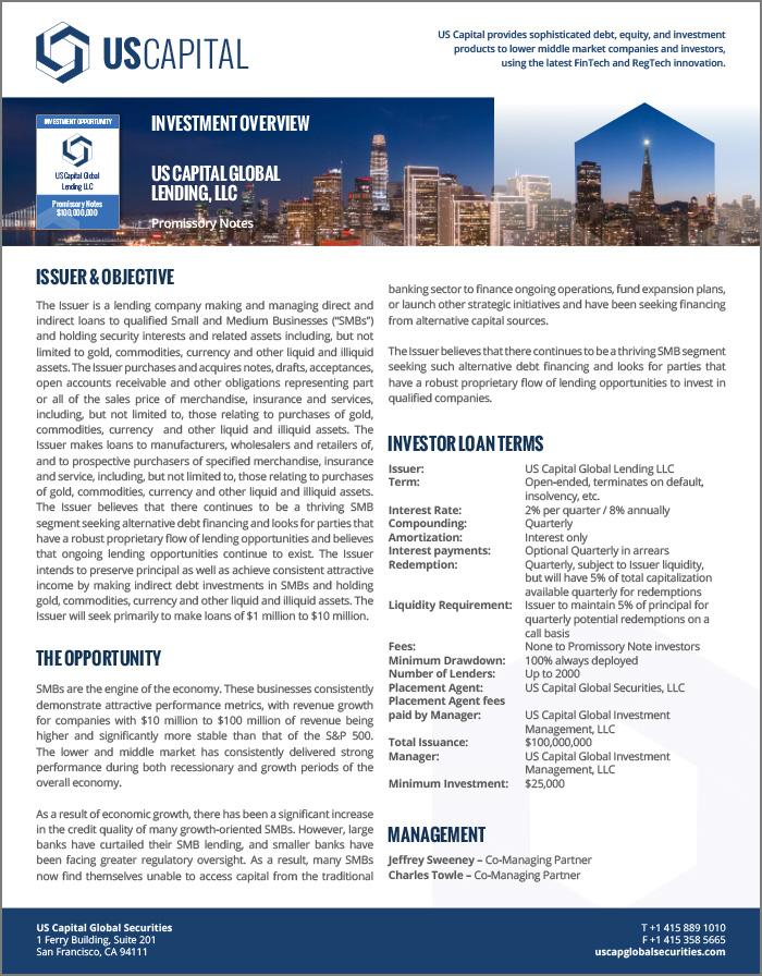 USCG Lending LLC
